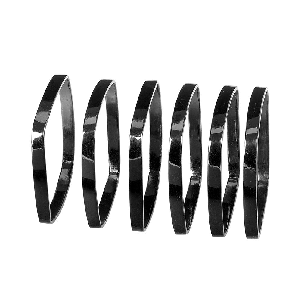 Blomus Napkin Rings Nickel Fino - Set of 6 (Black)