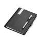 TROIKA Travel Organiser with A5 Notepad and Stylus Pen - Midnight
