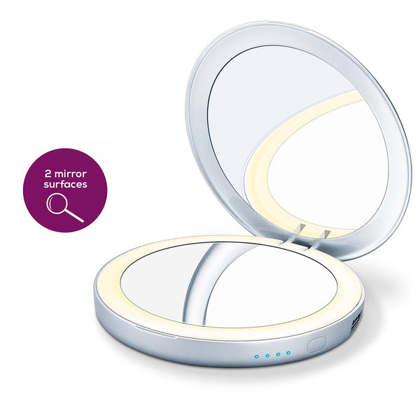 Beurer BS 39 Illuminated Cosmetics Mirror With Powerbank