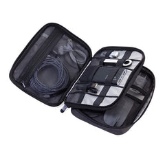 TROIKA Organiser Case with 2 Zipper Compartments Connected