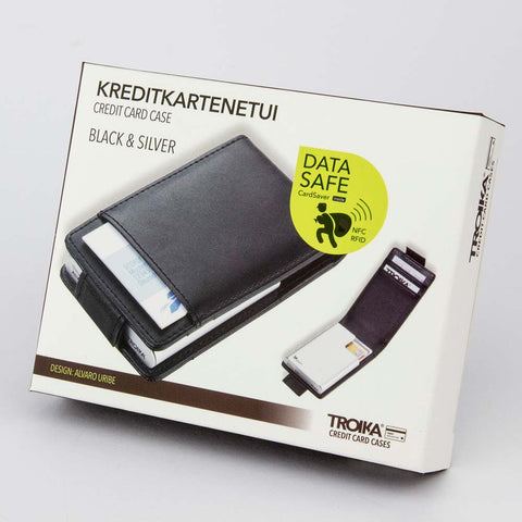 TROIKA - RFID Shielding Credit Card Case - Black and Silver