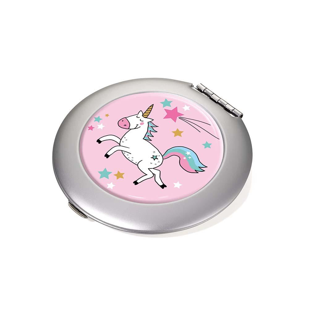 TROIKA Magnifying Pocket Mirror - Unicorn