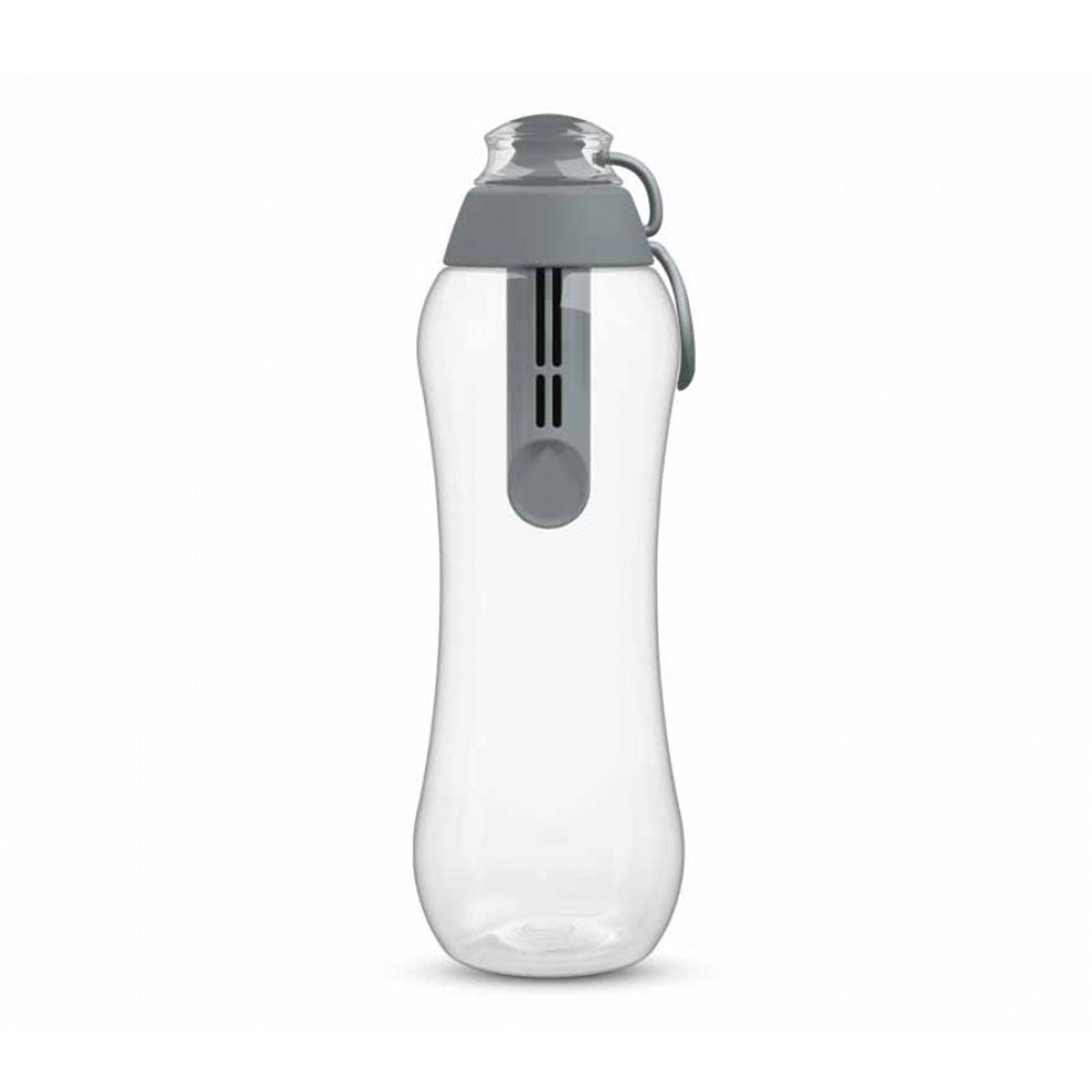 PearlCo Water Filter bottle including 1 filter cartridge 500ml – Grey