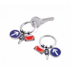 TROIKA Keyring with 3 Charms ON THE ROAD
