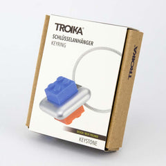 TROIKA Keyring with 4 Variable Building Blocks KEYSTONE