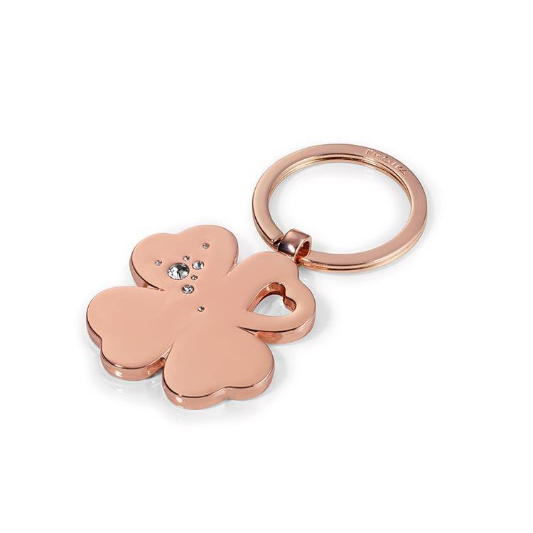 TROIKA - Lucky Clover Keyring - Rose Gold Colour