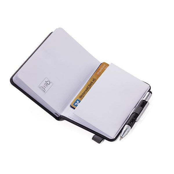 TROIKA Notepad DIN A7 with Multitasking Ballpoint Pen LILIPAD+LILIPUT Grey