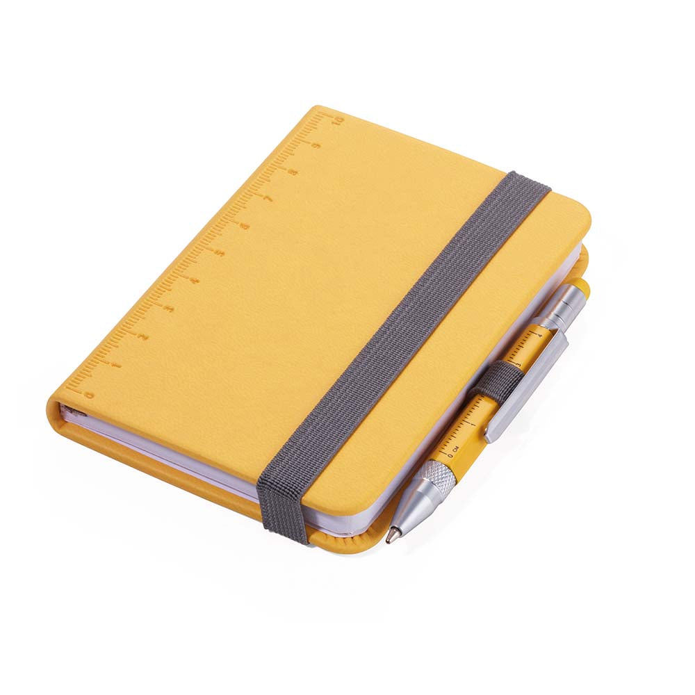 TROIKA Notepad DIN A7 with Multitasking Ballpoint Pen LILIPAD+LILIPUT Yellow