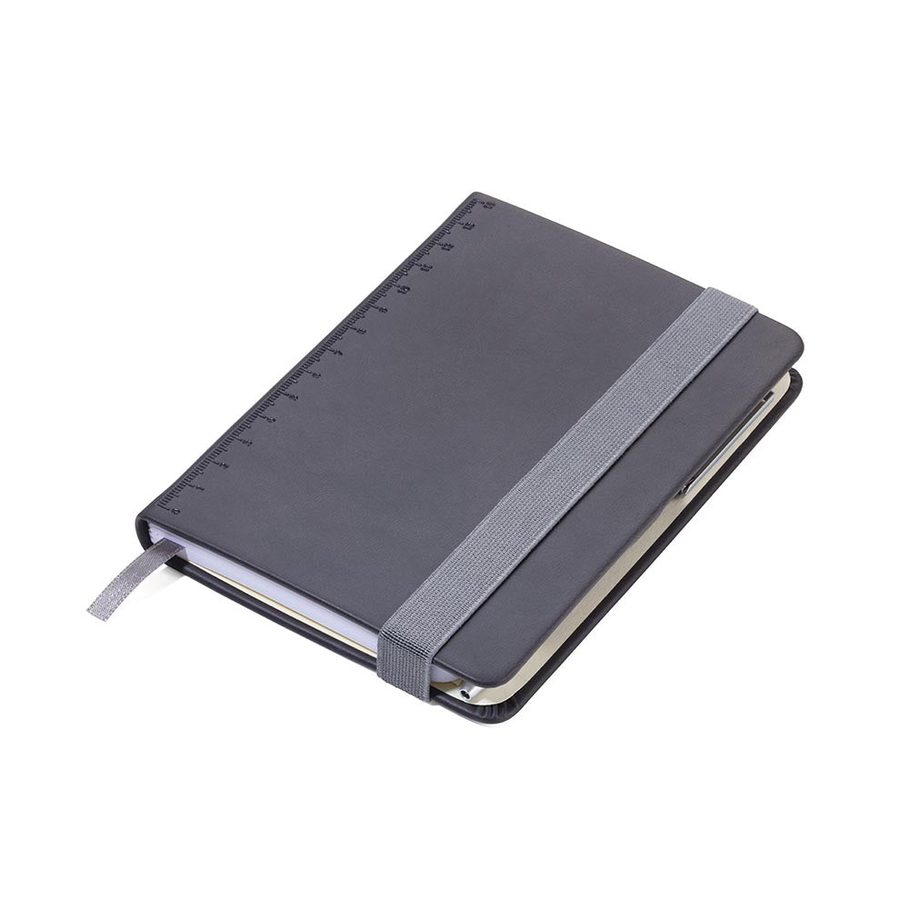 TROIKA Notepad A6 with Slim Multitasking Ballpoint Pen - Black