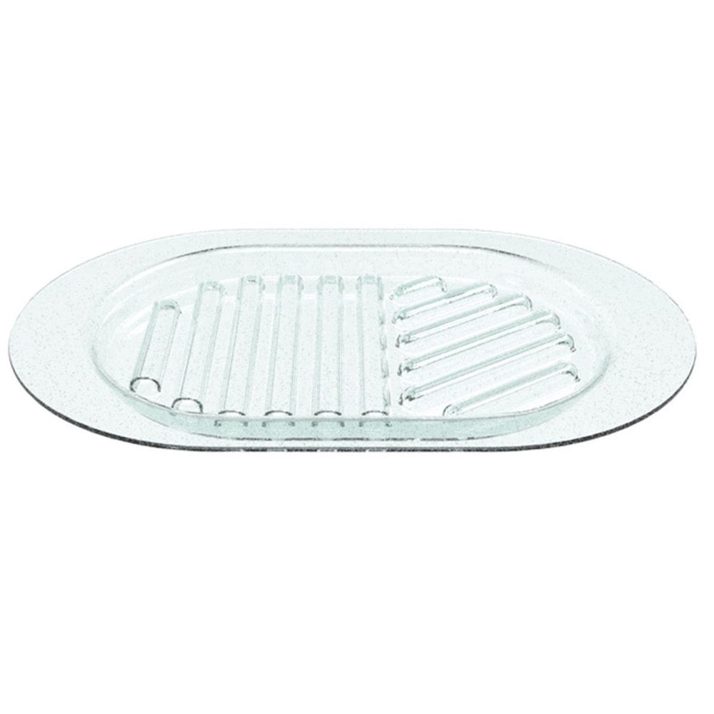 Leonardo Serving Plate Oval Transparent Glass 35x23 cm Cucina