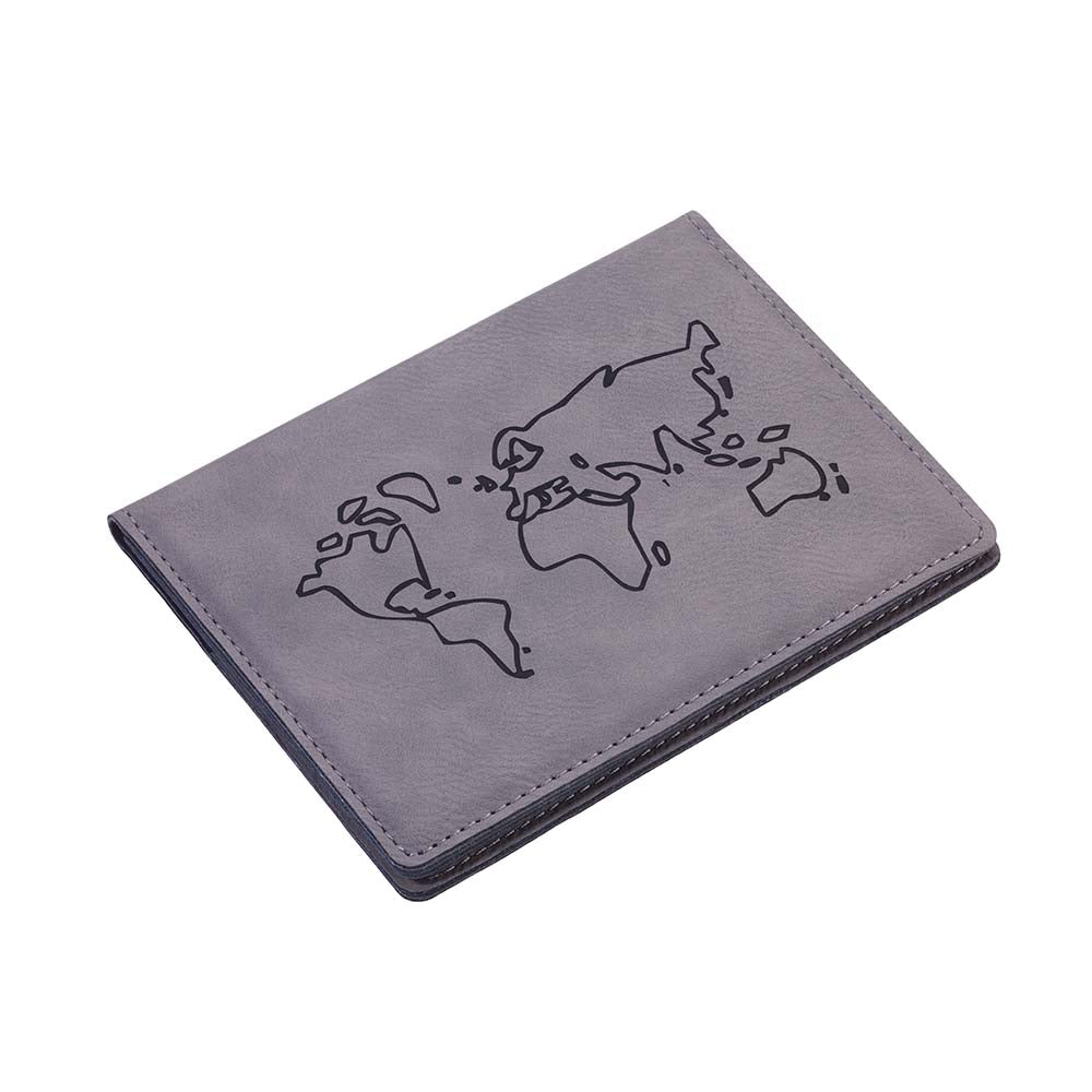 TROIKA Passport Cover & Card Case RFID PASSPORT SAFE - Grey
