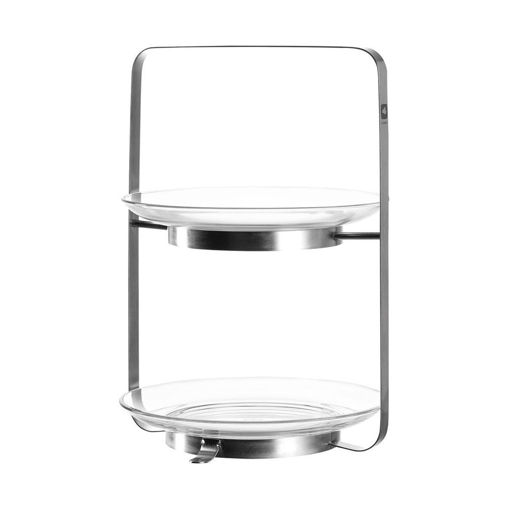 Leonardo 2 - Tiered Serving Stand: Metal Frame with Glass Trays Senso