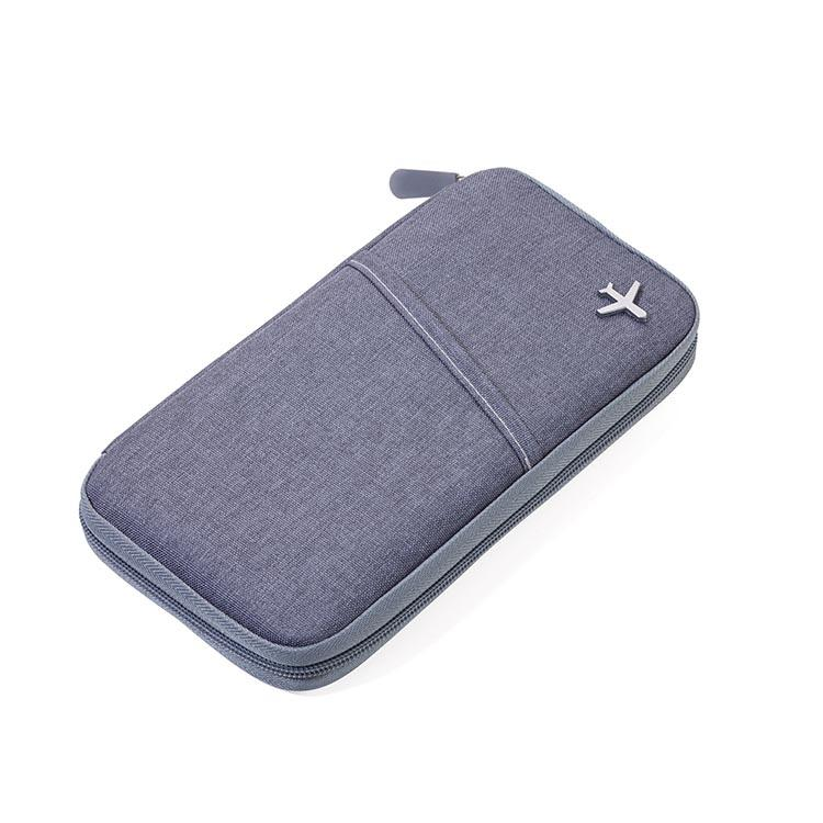 Troika Travel Document Case with RFID Fraud Prevention Safe Flight Grey