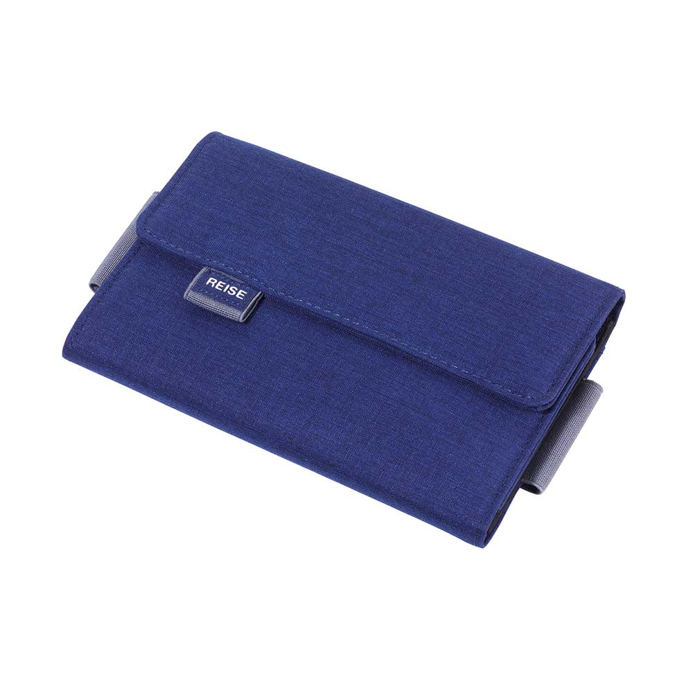 TROIKA Organiser Document Travel Case TRAVEL OFFICE - Blue/Grey