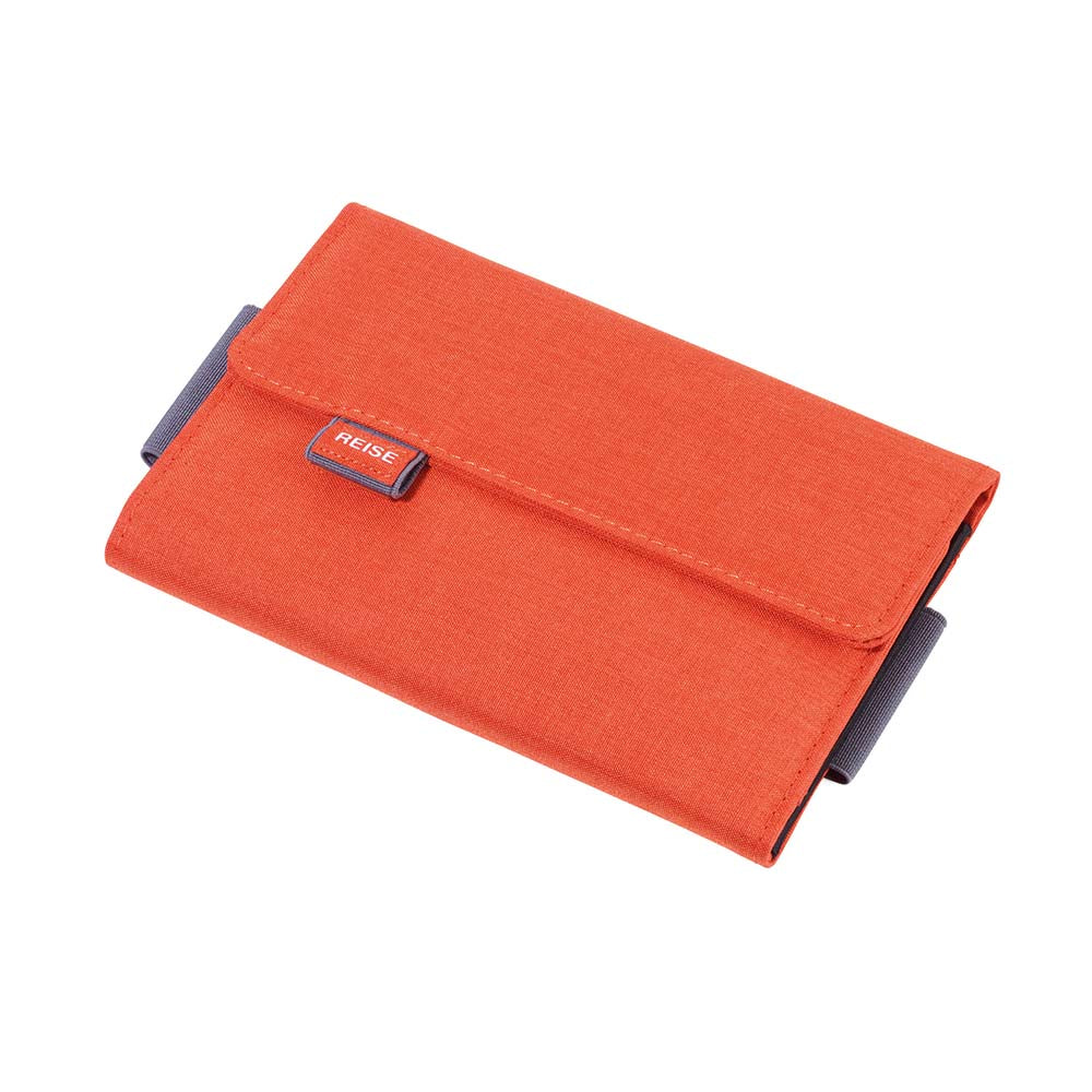 TROIKA Organiser Document Travel Case TRAVEL OFFICE - Orange/Grey