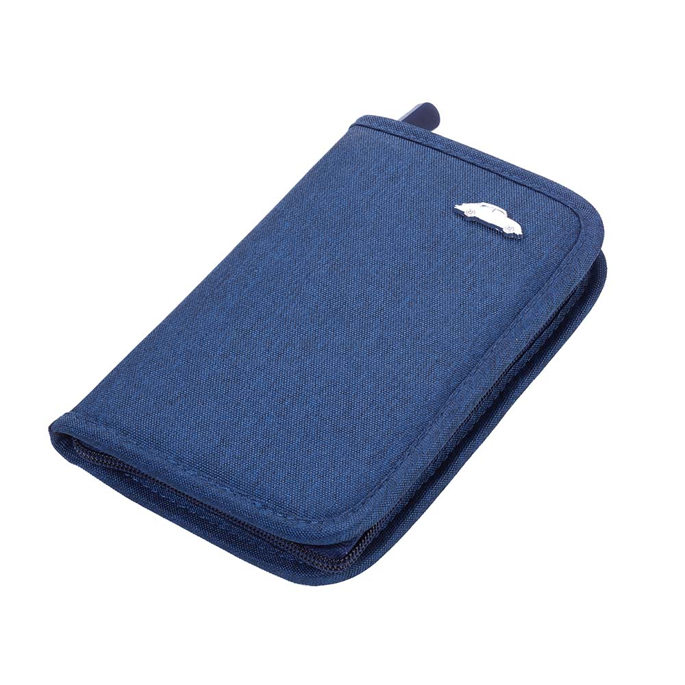 TROIKA Travel Organiser Car Docs RFID Fraud Safe SAFE TRIP VW BEETLE - Blue