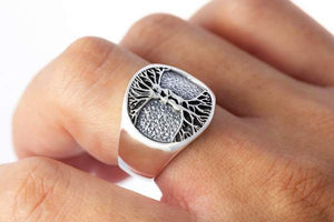 Handmade As Above So Below Ring - Sterling SIlver