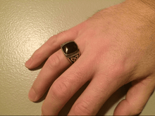 Mens Celtic Knot Black And Silver Ring - Stainless Steel