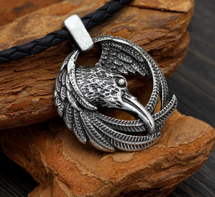 Odin's Raven Necklace - Huginn And Muninn