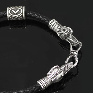 Huginn And Muninn Runic Bracelet
