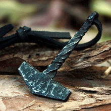 Handmade Iron Forged Mjolnir Necklace