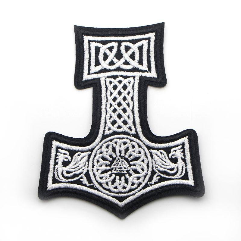 Embroidered Mjolnir Clothing Patch
