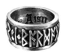 Handmade Poetry is in Battle Runes Viking Ring