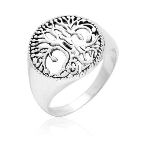 Handcrafted Yggdrasil Ring - Sterling Silver