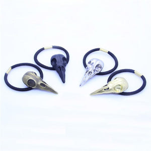 Raven Skull Hair Band Set