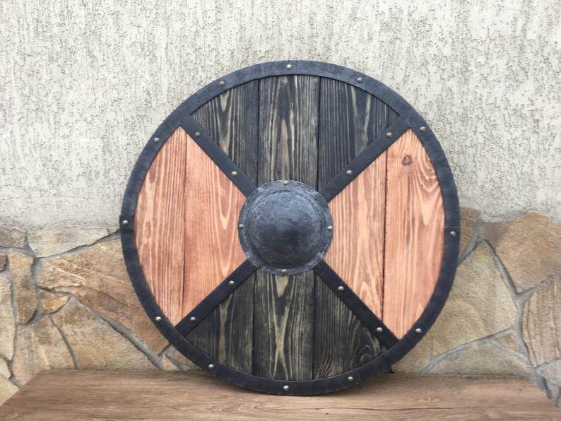 Authentic Viking Shield - Hand Forged