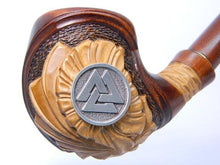 Viking Tobacco Smoking Pipe Valknut - Handmade