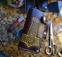 Handmade Mjolnir Leather Viking Wallet - Limited Edition