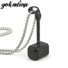 Thor's Hammer Movie Pendant Necklace - Stainless Steel