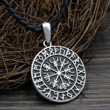 Limited Edition Vegvisir Viking Amulet With Runes - Silver Plated