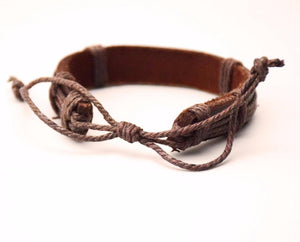 Authentic Norse Wolf Leather Bracelet