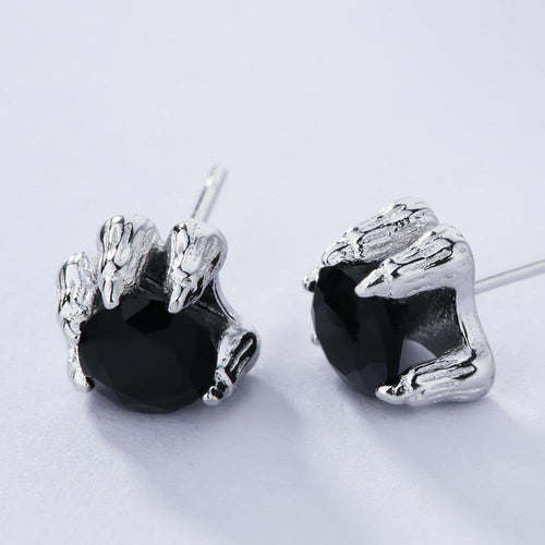 Norse Wolf Claw Earrings - 925 Sterling Silver