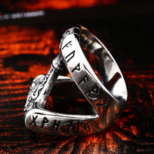 Norse Runic Mjolnir Ring - Stainless Steel