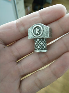 Unique Mjolnir Rune Beads - Beard and DIY Jewelry
