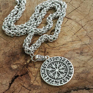 Runic Vegvisir Kings Chain Necklace - Handmade
