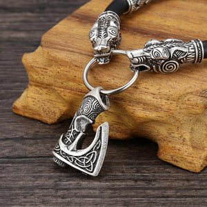 Geri And Freki Viking Axe Bracelet