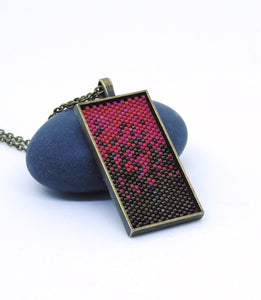 Mix it up Pendant - Fuschia and Dark Brown