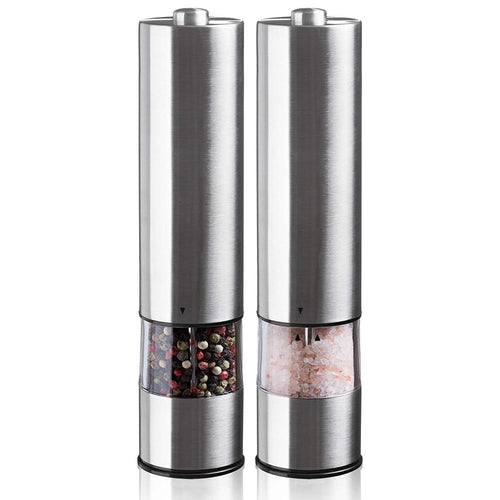 Electric salt/pepper grinder set