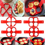 Silicone Non Stick Fantastic Egg Pancake Maker Ring Kitchen Baking Omelet Moulds Flip cooker Egg Ring Mold