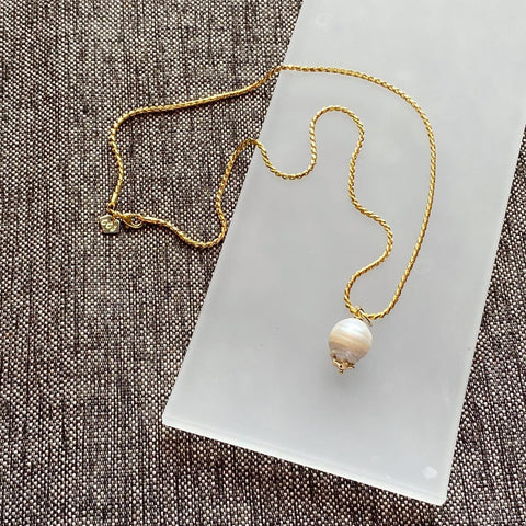 Baroque Pearl Pendant & Necklace