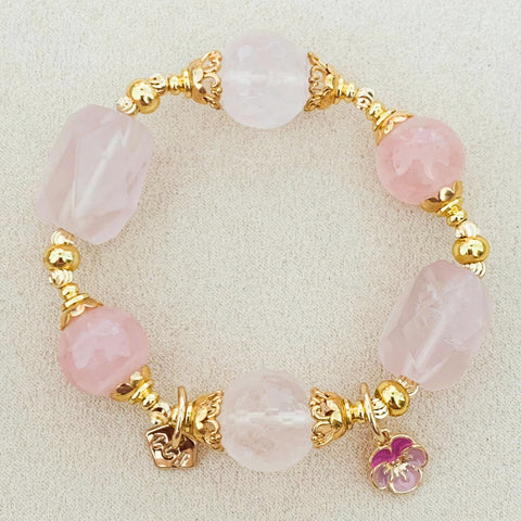 Rose Quartz Rocks Bracelet