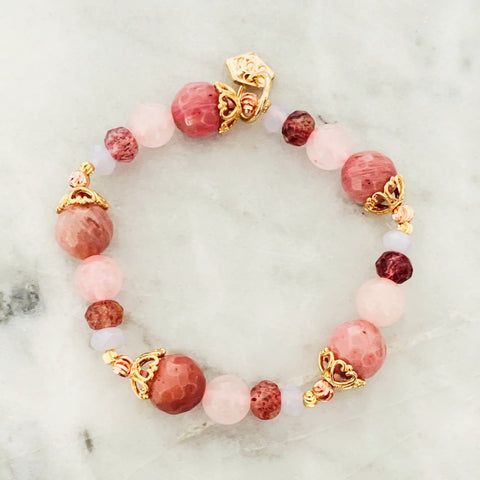 Rhodonite Rainbow Bracelet