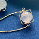 Sakura Phantom Quartz Square Bracelet