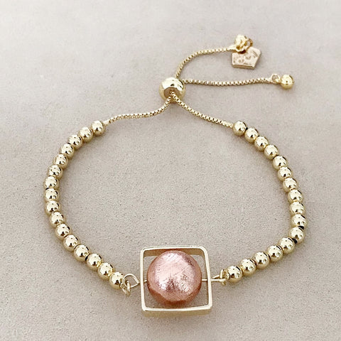 Meteorite (Rose gold) Square Bracelet