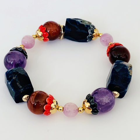 Honey Red Tigereye Rock Candy Bracelet