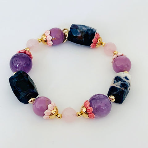 Phosphosiderite Rock Candy Bracelet